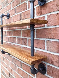 Double Bookshelf Curio Shelf Vintage Industrial Reclaimed Wood by iReclaimed on Etsy