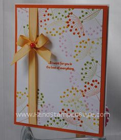 Stampin Up! Simple Card Class with Best of Everything #HandStampedStyle
