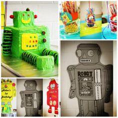 Robot birthday cake!