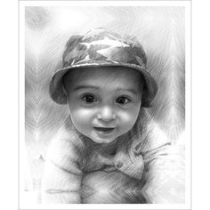 Photo to Canvas Pet Portraits, Family Portraits, Black And White Canvas, Photo Sketch, Pin Art, Photo Canvas, Pencil Art, Art Boards, Baby Photos