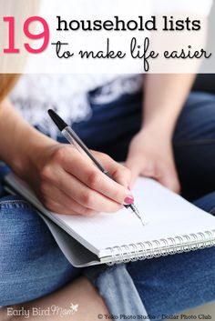 Do you have a dozen or more lists going to help keep your life in order? Keeping lists is one of my favorite ways to stay organized as a busy mom. See this list of lists (19 different household lists – cleaning, recipes, to-do lists, menus, etc.) with many free awesome organizing printables that will make your life easier. Because busy moms with busy families don't have any time to waste!