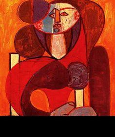 Pablo Picasso, 1946 Buste de Françoise on ArtStack #pablo-picasso #art