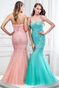 $120.29-Mermaid Beaded Sleeveless Sweetheart Tulle Backless Evening Gown With Lace-Up Back. http://www.ucenterdress.com/mermaid-beaded-sleeveless-sweetheart-tulle-prom-dress-with-lace-up-back-pMK_300336.html.  Shop for affordable evening gowns, prom dresses, white dresses, party dresses for women, little black dresses, long dresses, casual dresses, designer dresses, occasion dresses, formal gowns, cocktail dresses . We have great 2016 Evening Gowns on sale now. #evening #gowns