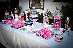 Candy bar summer party decor sweet outdoors