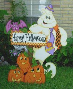 Halloween Pumpkins,Witches, ghosts, Halloween yard art, skeletons, pumpkins, jack-o-lanterns