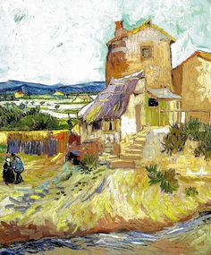 Vincent van Gogh - The Old Mill, 1888 at Albright-Knox Art Gallery Buffalo New York