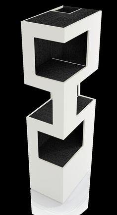 Design Katzenturm Kratzbaum mit Kratzflächen aus Sisal