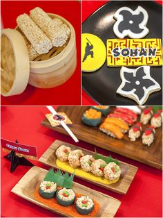 Ninja Japanese Birthday party Ideas with lots of creative DIY decorations, party printables, favors and fun food for kids! Naruto Birthday, Ninja Birthday Parties, Birthday Party Themes, Birthday Ideas, Japanese Theme Parties, Japanese Party, Japanese Dojo, Naruto Party Ideas, Karate Party