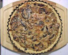 mushroom and onion tart w/gruyere