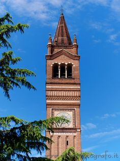 Trezzo d'Adda (Milan): Bell tower of the Church of the saints Gervaso and Protaso