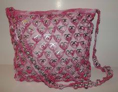 Varigated Pink Heart Upcycled Pop Tab Purse Crocheted Handmade. $45.00, via Etsy.