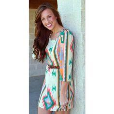 Paige Tribal Print Dress from Monica's Closet Essentials