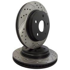 ATL Autosports Performance Brake Rotors Front Pair Fits 2010 Mercedes-Benz S400 ATL34418-49PDDS, Black