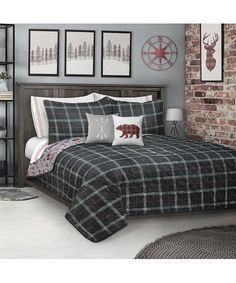 Safdie & Co. Inc. Wild & Free Reversible Printed Quilt Set   Best Price and Reviews   Zulily Plaid Comforter, Bedding, Dust Mites, Wild And Free, Quilt Sets, Quilt Making, Comforters, Rest, Quilts