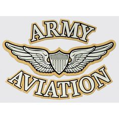 "Army Aviation with Wing and Shield Logo Decal 3.5"" x 5"""