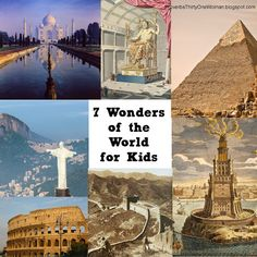 an idea to present the wonders of the ancient world is a booklet  7 wonders of the world ancient and modern for kids