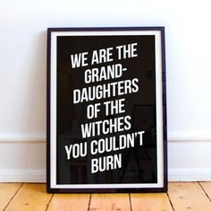NEW PRODUCT!   Typographic witch print!  Perfectly minimalist and looks incredible in your witchy haven. It reminds one of their magical ability and gives strength to the modern witch.   From $11.99