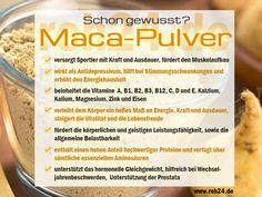 Schon gewusst? Interessante Infos zu unserem Superfood MACA-PULVER Die Power-Knolle Maca verhilft mit ihren wertvollen Inhaltsstoffen zu mehr Leistungsfähigkeit und allgemeiner Belastbarkeit, verleiht somit dem Körper ein hohes Maß an Kraft, Ausdauer und Energie, steigert die Lebensfreude und die Vitalität.  www.roh24.de/rohkost/maca-pulver-reines-wurzelpulver-aus-hochland-maca-in-gepruefter-bio-kba-qualitaet