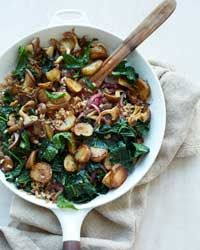 Sunchoke-Kale Hash with Farro Recipe