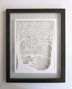 TREEs Of LIFE Wall and Home Décor White Silhouette by BoldFolds