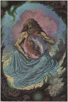 Harrison's Illustrated Alchemy: Pisces & the Fisher King (Melchizedek)