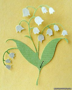 A year of paper cut out flowers from Martha Stewart. 12 downloadable templates