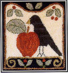 punchneedle cross stitch patterns and kits Cross Stitch Kits, Cross Stitch Patterns, Fabric Patterns, Embroidery Patterns, Primitive Folk Art, Primitive Painting, Punch Needle Patterns, Hand Hooked Rugs, Craft Punches