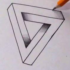 Hoe teken je de Onmogelijke Driehoek?