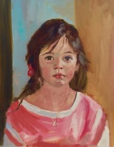 Portrait Sketch of Abby, painting by artist Kay Crain