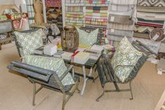 Gorgeous outdoor furniture at Peridot West! Dash And Albert, Patio Rugs, Peridot, Dining Chairs, Outdoor Furniture, Home Decor, Decoration Home, Room Decor, Peridots