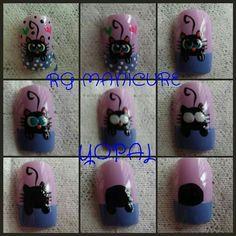 My Nails, Nail Designs, Nail Art, Stickers, Margarita, Halloween, Nail Stickers, Nail Art Designs, Nail Arts