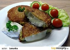 Hermelín v bramboráku recept - TopRecepty.cz Bagel, Avocado Toast, Baked Potato, Potatoes, Eggs, Bread, Baking, Breakfast, Ethnic Recipes