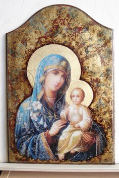 Decoupage International University | VK Decoupage On Canvas, Picture Gifts, Divine Mother, Madonna And Child, Blessed Virgin Mary, Canvas Frame, Painting On Wood, Modern Art, Photo Wall