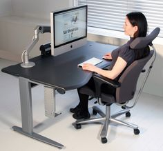 Height Adjustable desk with Add-Ons & Lighting