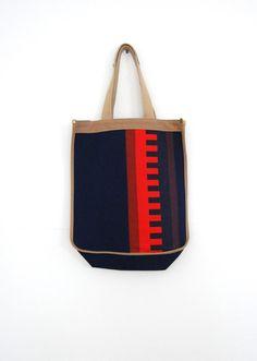 80er Jahre OpArt Tote / Baumwolle Canvas Bag / von AnastasiaSwift