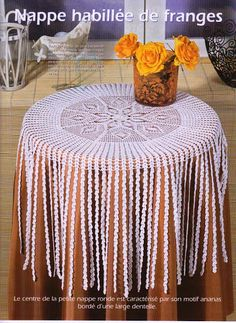 Lace crochet table cloth from the magazine Sabrina Tous Les Ouvrages issue #110