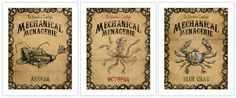 The perfect prints for my nautical steampunk bathroom