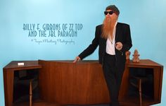 Photo I snapped of ZZ Top's Billy Gibbons, standing next to the iconic JBL Paragon at Modernway in Palm Springs, California (psmodernway.com) © Tayva Martinez Photography
