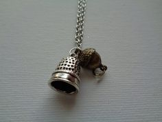 Peter Pan inspired thimble and acorn kiss by TinkerGirlBoutique
