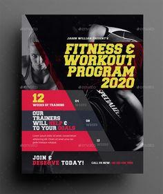 Fitness Flyer #Fitness, #Flyer Free Business Card Design, Fitness Flyer, Letter Size, Freshman, Workout Programs, Lorem Ipsum, Art Designs, Graphic Art, Lettering