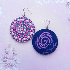 Happy 3D Mandala Earrings by Yana KaechkaHippy EarringsBoho