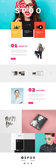 SPOO , Creative Portfolio on Web Design Served (Party Top Website)