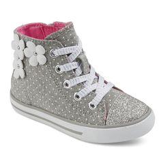Toddler Girls' Jen Floral Applique High Top Sneakers Cat & Jack, Toddler Girl's
