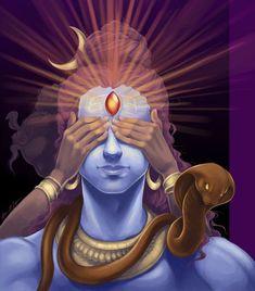The story of Andhaka - Third Eye of Shiva and Parvati