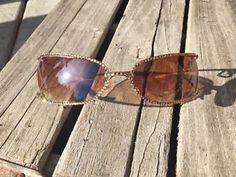 JC Jimmy Swarovski Crystal Sunglasses Italy Design Amber Rimless Heart Charm | eBay