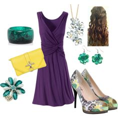 Spring, created by dontevenblink on Polyvore  I would wear all of this! All my colors and super stylish!