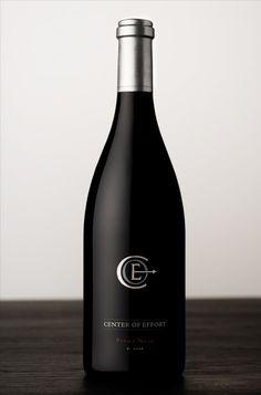 2012 Pinot Noir, 'Center of Effort' Wine Photography, Product Photography, Pinot Noir Wine, Wine Label Design, Wine Deals, Wine Brands, Vitis Vinifera, Beverage Packaging, Bottle Lights