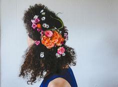 FLORAL AFRO! Loving this #naturalhair wedding tutorial