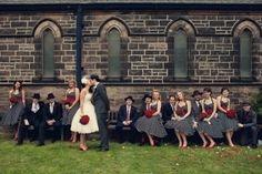 Claire and Jims 1950s American Gangster Themed Wedding by Assassynation