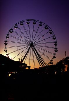 Erie County Fair - August 1995, Ferris Wheel by Guenther Lutz, via Flickr